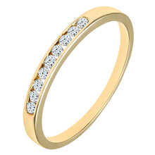 Load image into Gallery viewer, Ladies 9ct Yellow Gold Channel Set Diamond Eternity Ring