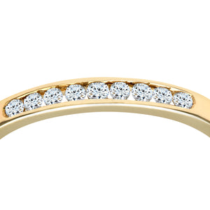 Ladies 9ct Yellow Gold Channel Set Diamond Eternity Ring