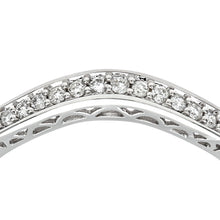 Load image into Gallery viewer, 9ct White Gold 0.13ct Diamond Wishbone Eternity Ring