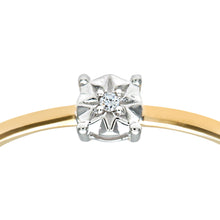 Load image into Gallery viewer, Ladies 9ct Yellow Gold Illusion set Diamond Solitare Ring