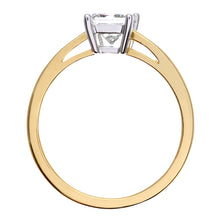 Load image into Gallery viewer, 18ct Yellow Gold 3/4 Carat Certified J/SI Princess Cut Diamond Engagement Ring