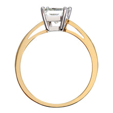 Load image into Gallery viewer, 18ct Yellow Gold 1 Carat Certified J/SI Princess Cut Diamond Engagement Ring