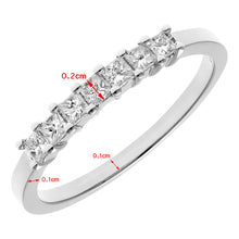 Load image into Gallery viewer, Platinum 1/3 Carat Certified J/I Princess Cut Diamond Eternity Ring