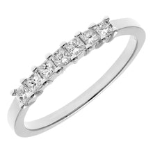 Load image into Gallery viewer, 18ct White Gold 1/3 Carat Certified J/I Princess Cut Diamond Eternity Ring
