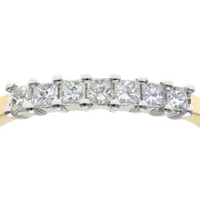 Load image into Gallery viewer, 18ct Yellow Gold 1/3 Carat Certified J/I Princess Cut Diamond Eternity Ring