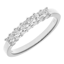 Load image into Gallery viewer, 18ct White Gold 1/2 Carat Certified J/SI Princess Cut Diamond Eternity Ring