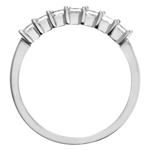 18ct White Gold 3/4 Carat Certified J/SI Princess Cut Diamond Eternity Ring