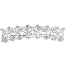 Load image into Gallery viewer, 18ct White Gold 1 Carat Certified J/I Princess Cut Diamond Eternity Ring