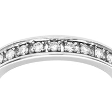 Load image into Gallery viewer, 18ct White Gold Half Carat Diamond Full Eternity Ring