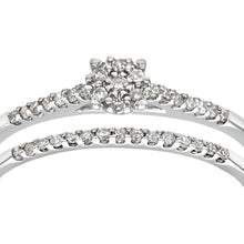 Load image into Gallery viewer, 9ct White Gold 0.16ct Diamond Bridal Set Ring