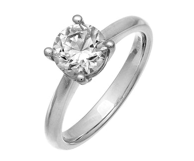 18ct White Gold 1.50ct Certified IJ/I Diamond Solitare Engagement Ring