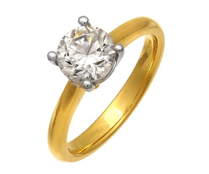 18ct Yellow Gold 1.50ct Certified IJ/I Diamond Solitare Engagement Ring