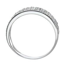 Load image into Gallery viewer, 9ct White Gold Quarter Carat Triple Row Diamond Half Eternity Ring