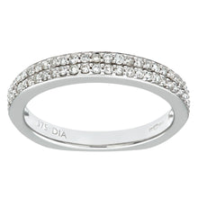 Load image into Gallery viewer, 9ct White Gold 0.30ct Diamond Double Row Pave Set Eternity Ring