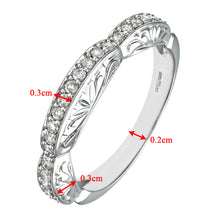 Load image into Gallery viewer, 9ct White Gold 0.33ct Diamond Fancy Pave Set Eternity Ring