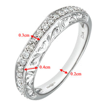 Load image into Gallery viewer, 9ct White Gold 0.35ct Diamond Fancy Eternity Ring