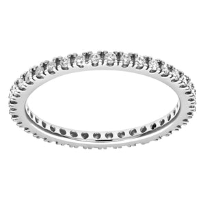 9ct White Gold 0.36ct Diamond Full Eternity Ring