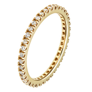 9ct Yellow Gold 0.36ct Diamond Full Eternity Ring