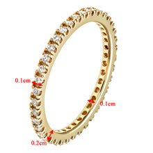 Load image into Gallery viewer, 9ct Yellow Gold 0.36ct Diamond Full Eternity Ring