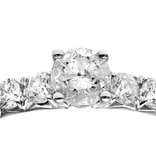 Load image into Gallery viewer, 18ct White Gold 1ct Certified Diamonds Shoulder Set Engagement Ring