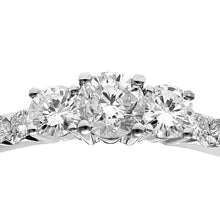 Load image into Gallery viewer, 18ct White Gold 1/2ct Certified Diamonds Trilogy Engagement Ring