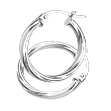 Load image into Gallery viewer, 9ct White Gold Ladies Hoop Earrings