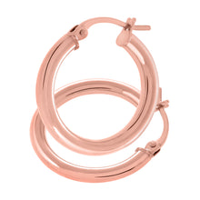 Load image into Gallery viewer, 9ct Rose Gold Classic Hoop Earrings