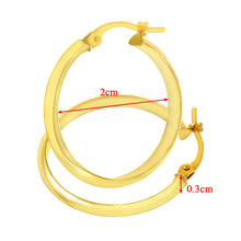 Load image into Gallery viewer, 9ct Yellow Gold Shiny Knife Edge Hoop Earrings