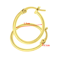 Load image into Gallery viewer, 9ct Yellow Gold Classic Hoop Earrings