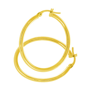 9ct Yellow Gold Classic Hoop Earrings