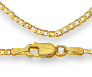 "9ct Yellow Gold 1.9g Curb Necklace, 41cm/16"" Length, 1.8mm Width"