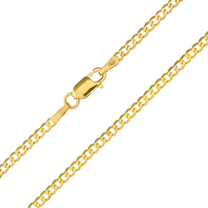 "9ct Yellow Gold 2.1g Curb Necklace, 46cm/18"" Length, 1.8mm Width"