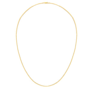 "9ct Yellow Gold 2.3g Curb Necklace, 51cm/20"" Length, 1.8mm Width"