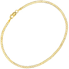 "Load image into Gallery viewer, 9ct Yellow Gold 0.9g Curb Bracelet, 19cm/7.5"" Length, 1.8mm Width"