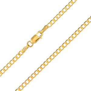 "9ct Yellow Gold 2.8g Curb Necklace, 41cm/16"" Length, 2.3mm Width"