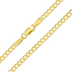 "9ct Yellow Gold 4.9g Curb Necklace, 56cm/22"" Length, 2.7mm Width"