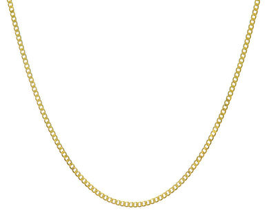 9ct Yellow Gold 4.9g Curb Necklace, 56cm/22