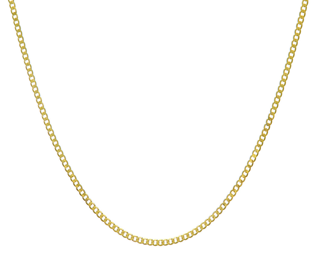 9ct Yellow Gold 5.3g Curb Necklace, 61cm/24