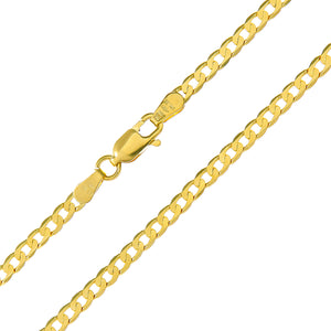 "9ct Yellow Gold 5.4g Curb Necklace, 46cm/18"" Length, 3mm Width"