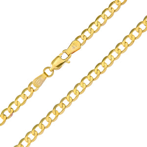 "9ct Yellow Gold 9.5g Curb Necklace, 56cm/22"" Length, 4mm Width"