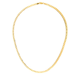 "9ct Yellow Gold 10.4g Curb Necklace, 61cm/24"" Length, 4mm Width"