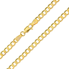 "Load image into Gallery viewer, 9ct Yellow Gold 10.4g Curb Necklace, 61cm/24"" Length, 4mm Width"