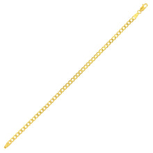 "Load image into Gallery viewer, 9ct Yellow Gold 3.2g Curb Bracelet, 19cm/7.5"" Length, 4mm Width"