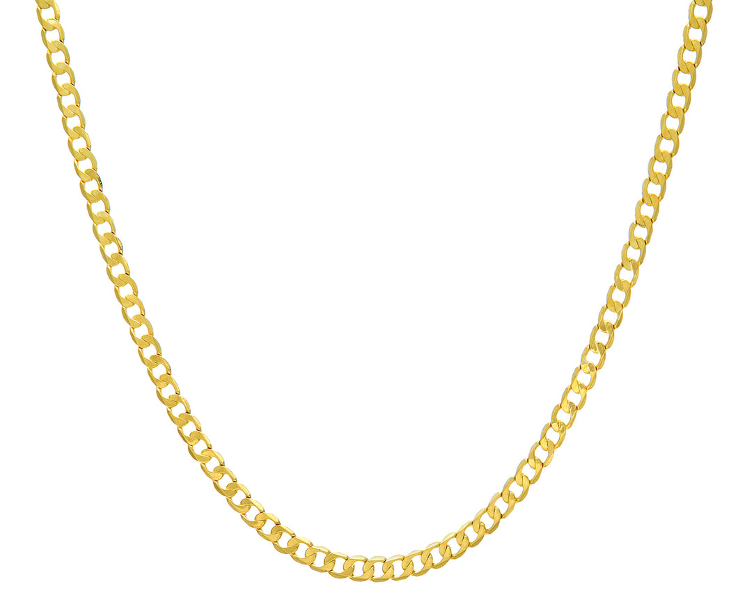 9ct Yellow Gold 9.8g Curb Necklace, 46cm/18