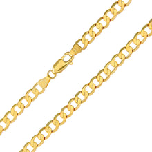 "Load image into Gallery viewer, 9ct Yellow Gold 10.9g Curb Necklace, 51cm/20"" Length, 4.7mm Width"