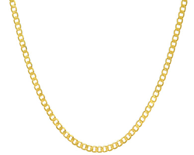 9ct Yellow Gold 12g Curb Necklace, 56cm/22