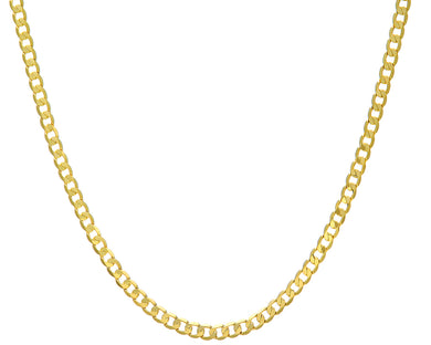9ct Yellow Gold 12.2g Curb Necklace, 46cm/18