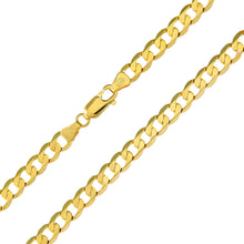 "Load image into Gallery viewer, 9ct Yellow Gold 16.2g Curb Necklace, 61cm/24"" Length, 5.1mm Width"
