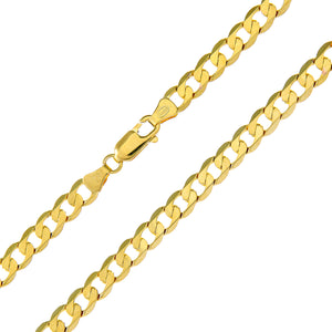 "9ct Yellow Gold 16.2g Curb Necklace, 61cm/24"" Length, 5.1mm Width"