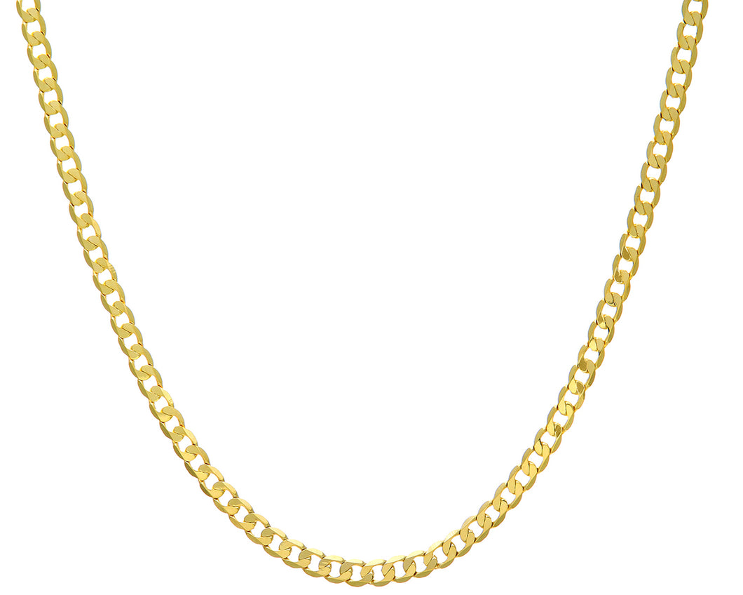 9ct Yellow Gold 16.2g Curb Necklace, 61cm/24